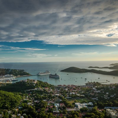Panoramic view of the Islands of St. Thomas, (C) Sunil Pereira