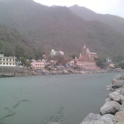View Of Rishikesh From Beach