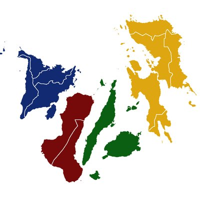 A map of Visayas color-coded by regions