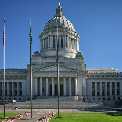 The Washington State Capitol Leglislative Building in Olympia, Washington.