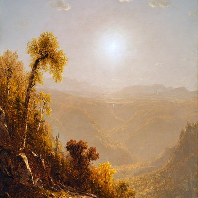October in the Catskills by Sanford Robinson Gifford.