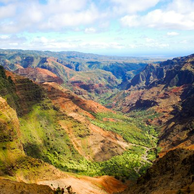 This is a photo of Waimea Canyon on the island of Kauai.