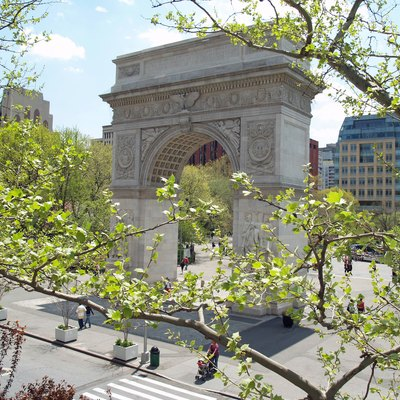 Washington Square Arch shot from the balcony of Larry Kramer's apartment.