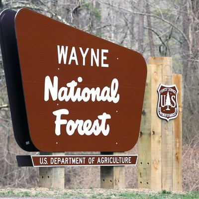 New sign for the Wayne National Forest