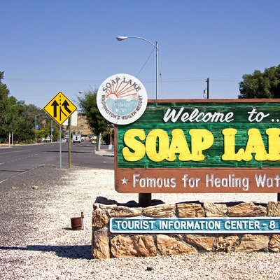 Welcome to Soap Lake Sign