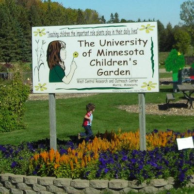 Children's garden at the West Central Research and Outreach Center run by the University of Minnesota in Morris, Minnesota, United States.