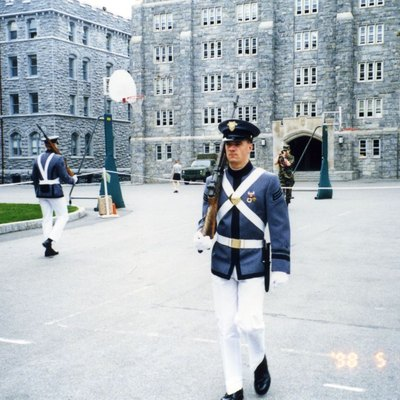 A West Point cadet walks punishment tours, aka