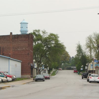 Main Street in Westville, Indiana.