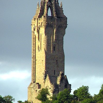 Cropped version of The Wallace Monument near Stirling, Scotland.