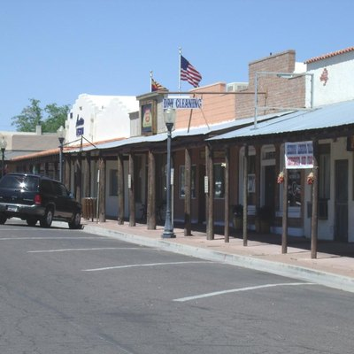 View of Old Frontier Street in Wickenburg, Arizona