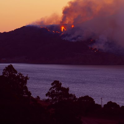 Wildfire On Angel Island