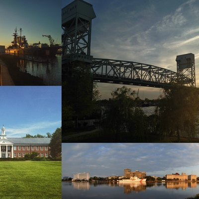 Redone Montage of Wilmington, North Carolina and environs