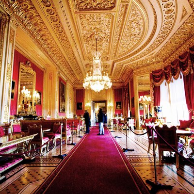 The Crimson Drawing room at Windsor Castle
