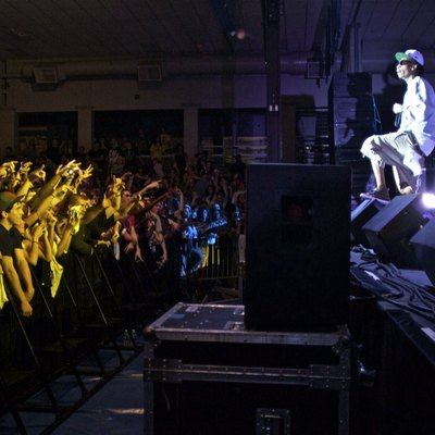 Wiz Khalifa performing at Colby College on May 6, 2011.