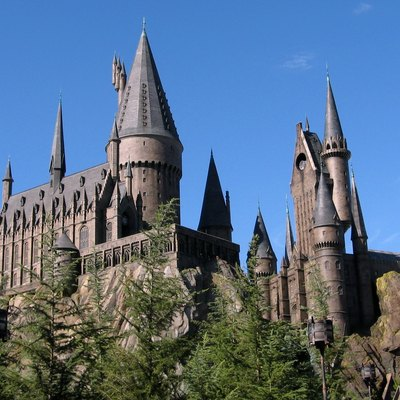 Hogwarts Castle in the Wizarding World of Harry Potter, an island of Island's Of Adventure in the Universal Orlando Resort