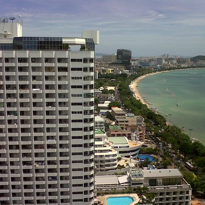 Picture of Pattaya beach, Pattaya with city skyline