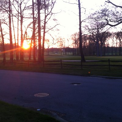 Sunset over DuPont Country Club in Woodbrook, Delaware, USA.