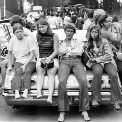 This photo was taken near the Woodstock music festival on August 18, 1969.