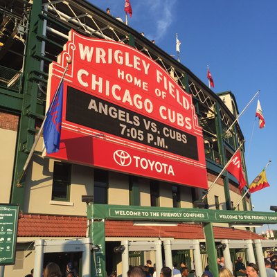 Wrigley Field's grandstand marquee