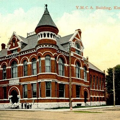 Postcard of the Y.M.C.A. Building in Kingston, Ontario, Canada.