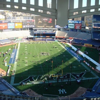 Yankee Stadium set up for the November 12th, 2011 Rutgers-Army football game. Rutgers would win the game, 27-12