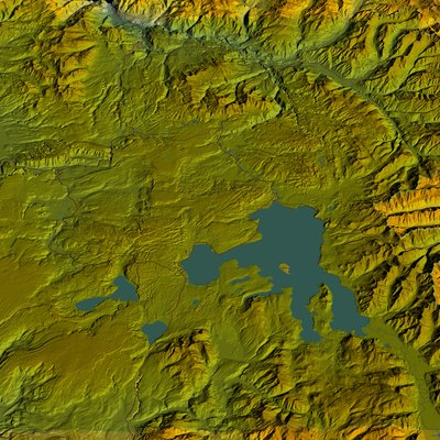 Yellowstone National Park, computer image generated using TruFlite