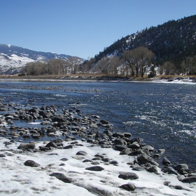 Yellowstone River just south of entrance to Yankee Jim Canyon, near Gardiner, Montana