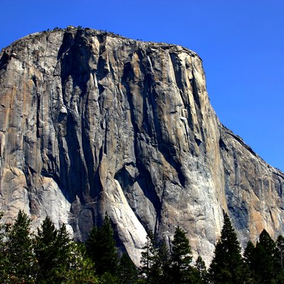 El Capitan in Yosemite National Park viewed from the Valley Floor.