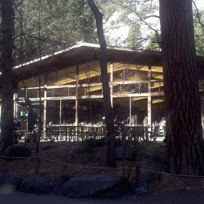 The dining room at Yosemite Lodge in Yosemite Valley.
