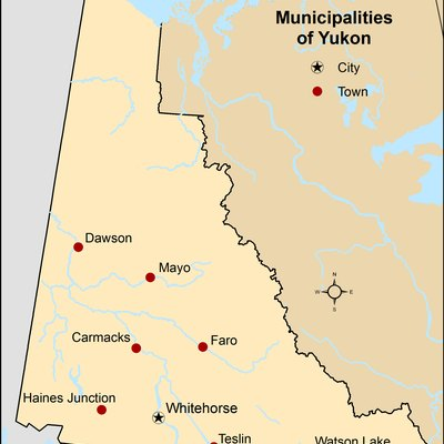 Municipalities of Yukon as of 2013