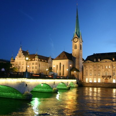 Zurich city in the night
