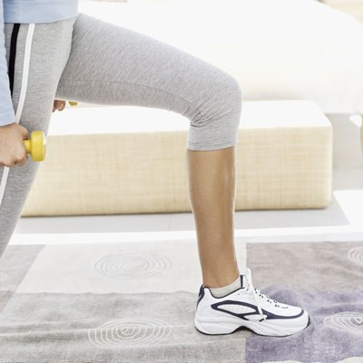 Lunges can help you tone and strengthen your lower body, even if you can't do a full one.