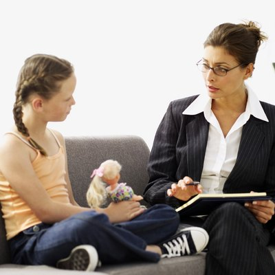 Counseling psychologists work with children and adults to help them solve problems.