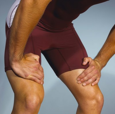 Support painful knees by wrapping them.