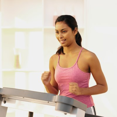 Pump your arms as you walk or run on the treadmill.