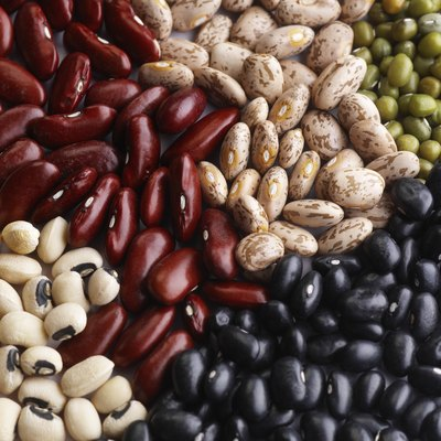 Beans and peas are members of the legume family.