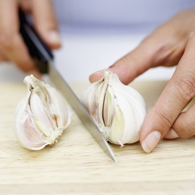 Chopped garlic is a low-sodium seasoning for recipes.