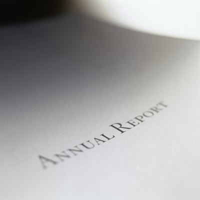A company reports annual revenues in its annual report.