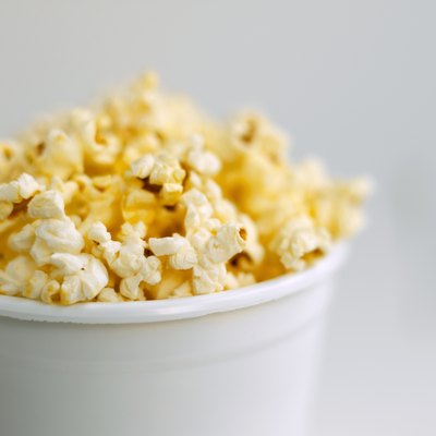 Air-popped popcorn is a good high-fiber snack.