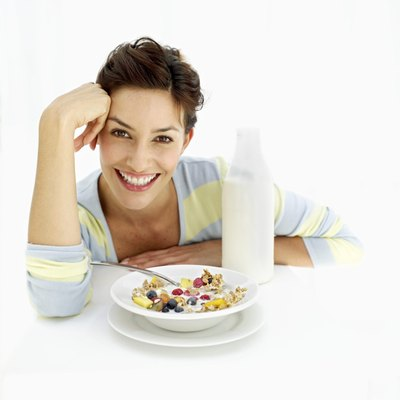 Cereal can be a healthy breakfast.