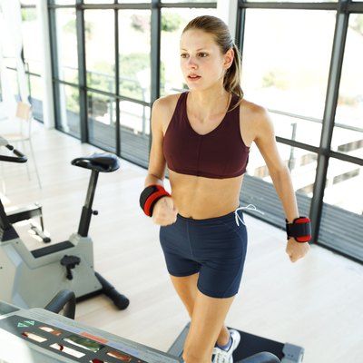 Walking with wrist weights will build upper-body strength and muscles.