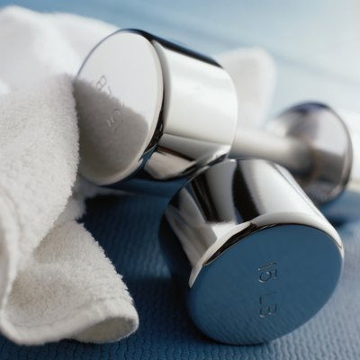Start with dumbbells of a lower weight and work up as you get stronger.