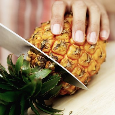 Most of the fiber in pineapple is the insoluble type.