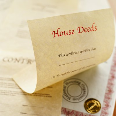 A certified deed shows legal ownership of buildings or property.