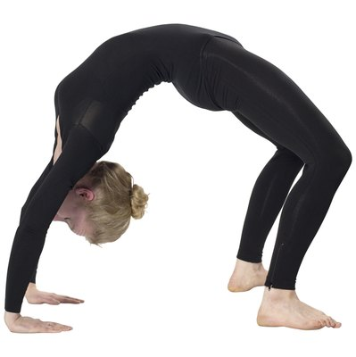 Wheel pose is for advanced yogis only.