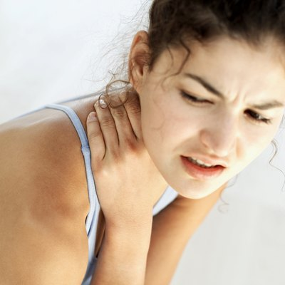 Neck soreness may be caused by running with too much tension.