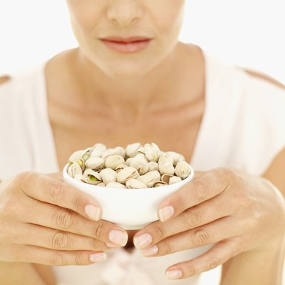 Nuts contain some saturated fat, but are a rich source of healthy fats.