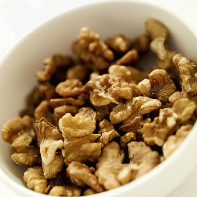 Walnuts are a concentrated source of calories and nutrients.