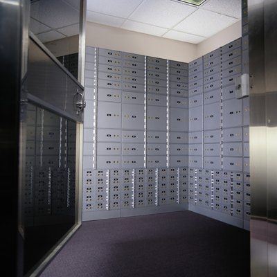 You can store information in a safe deposit box.