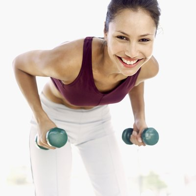 Dumbbell exercises can tone your back.